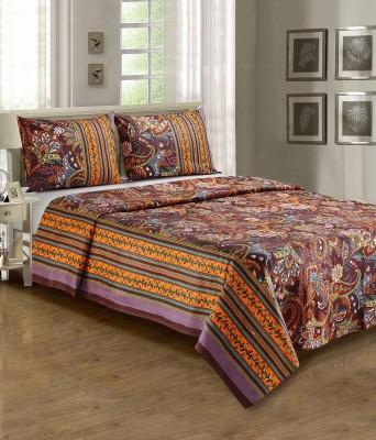 Anubhutee Cotton Floral Double Bedsheet