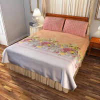 Portico New York Cotton Printed Double Bedsheet(1 Double Bed Sheet With 2 Pillow Cover, Multicolor) best price on Flipkart @ Rs. 1599