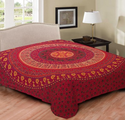 Hometexbazar Cotton Floral Double Bedsheet