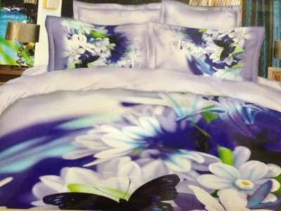 Tima Polycotton Floral King sized Double Bedsheet