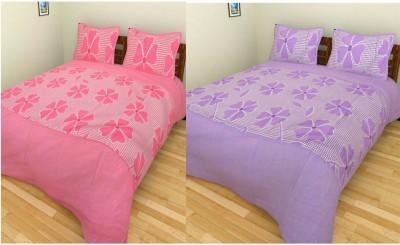 garima 7 star Cotton Abstract Double Bedsheet