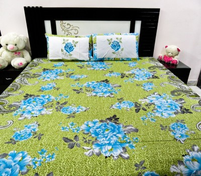 Kalakriti Creations Cotton Embroidered Double Bedsheet