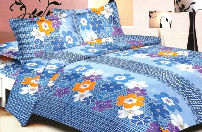 Madhavs Cotton Floral King sized Double Bedsheet