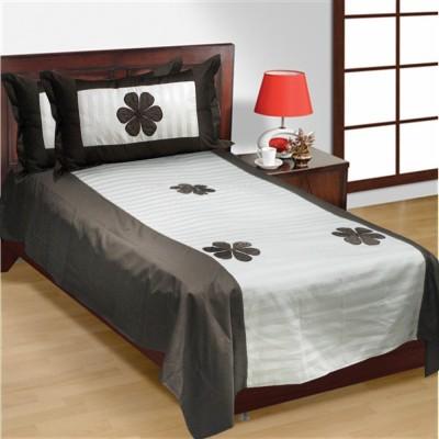 R home Cotton Self Design Single Bedsheet