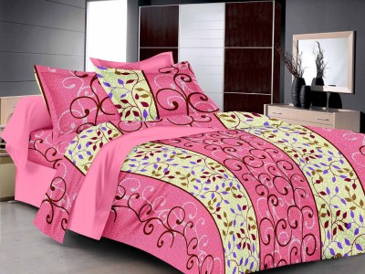 MB Cotton Floral Double Bedsheet