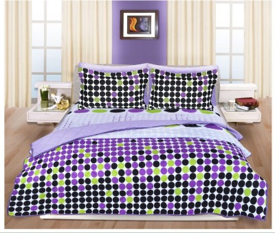 Shayan Cotton Polka King sized Double Bedsheet
