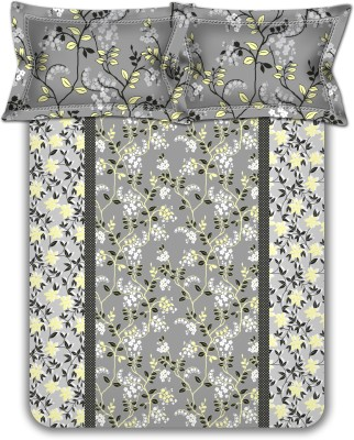 Homebee Cotton Floral Double Bedsheet