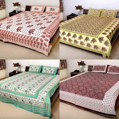 Shop jaipuri rajasthani Cotton Floral Double Bedsheet