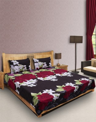 R.M TRADING Polycotton Floral Double Bedsheet