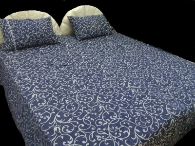 Portico New York Cotton Printed King sized Double Bedsheet