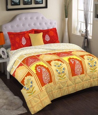 Bichauna by Portico Cotton Floral King sized Double Bedsheet