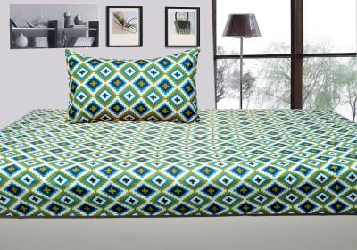 Handloomdddy Cotton Floral Single Bedsheet