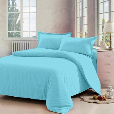 Indian Rack Cotton Striped Double Bedsheet