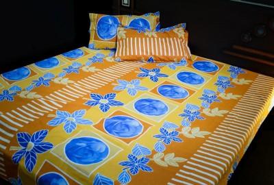 Aaram Cotton Floral Double Bedsheet