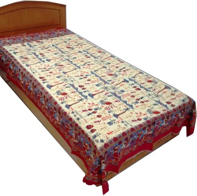Rajasthan Crafts Cotton Abstract Single Bedsheet