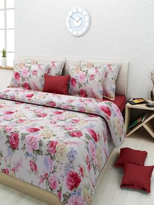 Rose Petal Cotton Printed Double Bedsheet