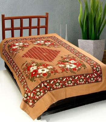 Surhome Cotton Printed Single Bedsheet
