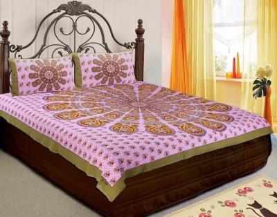 RajasthaniKart Cotton Floral Double Bedsheet