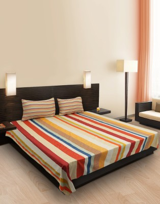 Decor Studio Cotton Striped Double Bedsheet