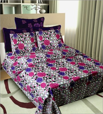 SHOPGRAB Cotton Floral Double Bedsheet