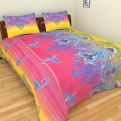 The Handloom Store Cotton Geometric King sized Double Bedsheet