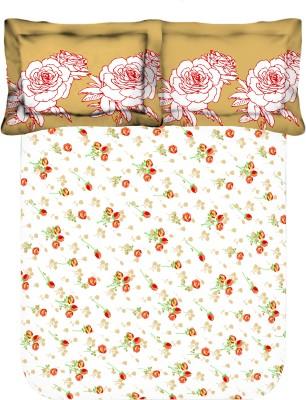 Axotic Cotton Floral Double Bedsheet