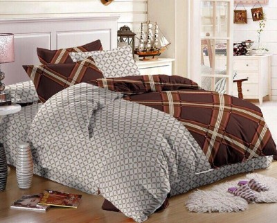 Glory Creations Polycotton Printed Queen sized Double Bedsheet