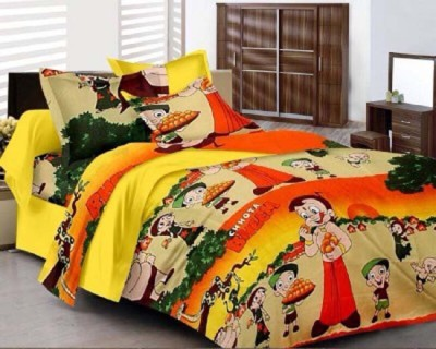 GLOW Cotton Cartoon Double Bedsheet