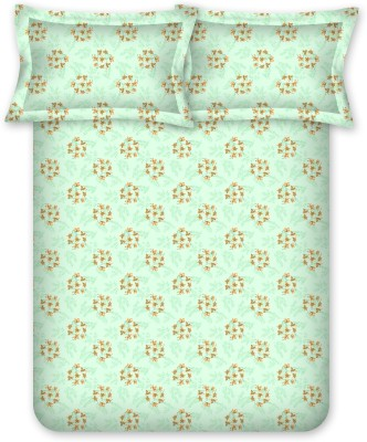 Bombay Dyeing Polycotton Floral Double Bedsheet