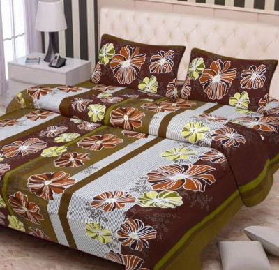 FIFTH ELEMENT Cotton Floral Double Bedsheet