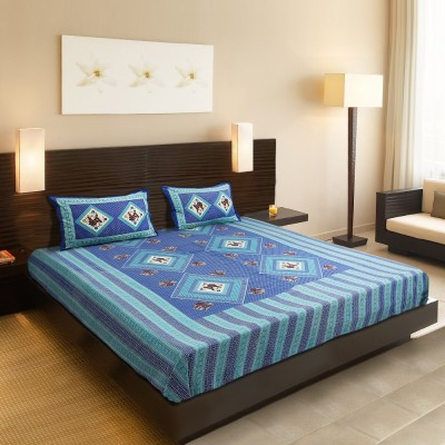 Chaddars Cotton Abstract Double Bedsheet