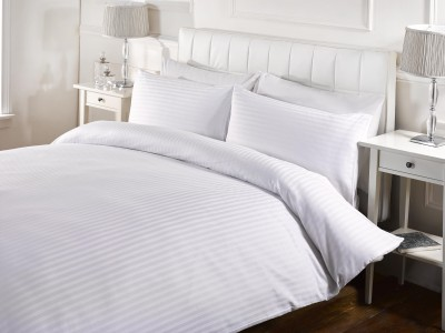 The Cotton Company Cotton Self Design King sized Double Bedsheet