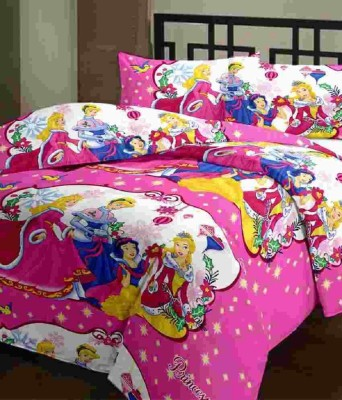 Sparklings Satin Embroidered Double Bedsheet