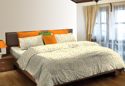 Stellar Home Cotton Abstract King sized Double Bedsheet