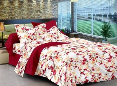 Sovam International Cotton Floral Double Bedsheet