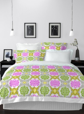 Welhome by Welspun Cotton Printed Double Bedsheet