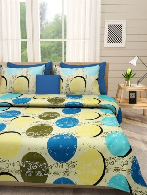 First Row Polycotton Printed Double Bedsheet