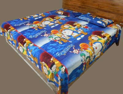 RK Raag Rang Cotton Cartoon Double Bedsheet