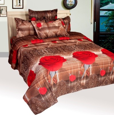 Home Stylo By Fablooms Polycotton Floral Double Bedsheet