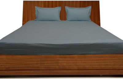 LNT Cotton Plain Queen sized Double Bedsheet