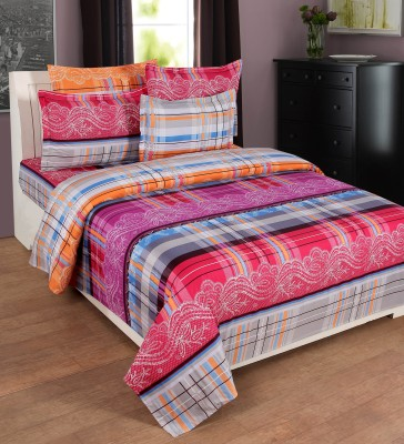FLINT by Roschelle Polycotton Checkered Double Bedsheet