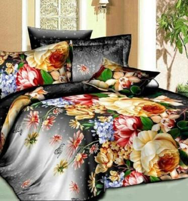 Trendyfy Polycotton Floral Double Bedsheet