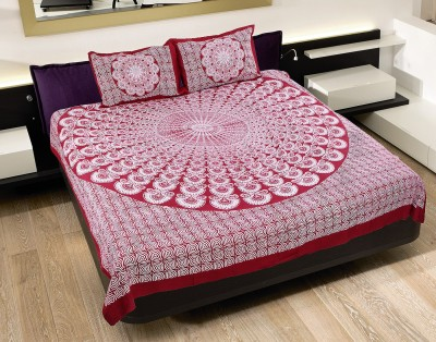 N DeCor Cotton Abstract King sized Double Bedsheet