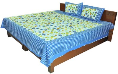 Little India Cotton Printed Double Bedsheet