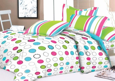 Lotus Cotton Abstract Double Bedsheet