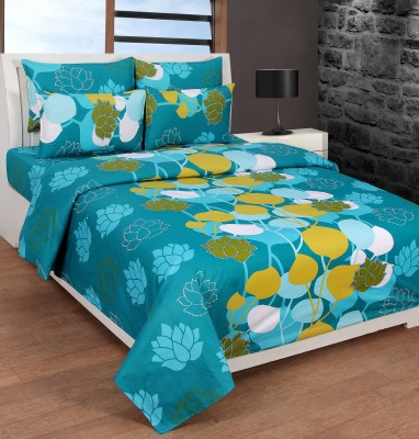 Creativehomes Cotton Floral Queen sized Double Bedsheet