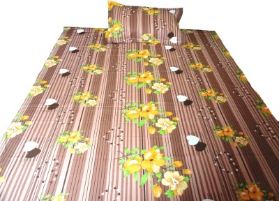 Amk Home Decor Cotton Floral Single Bedsheet