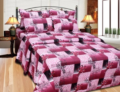 Fabbig Cotton Printed Double Bedsheet