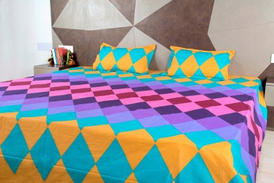 Siyas Collection Polycotton Checkered King sized Double Bedsheet