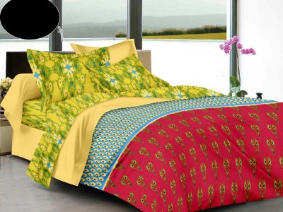 LISSOME Cotton Polka King sized Double Bedsheet